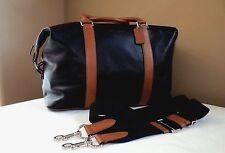 NWT Coach F93471 Duffle Explorer in Leather Black - Saddle MSRP $ 695.00