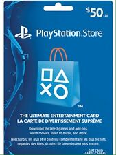 50$ CA playStation Network Store PSN Gift Card (Instant Delivery)
