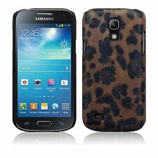 Samsung Galaxy S4 Mini i9190/i9195 Leopard PU Leather Hard Back Case Cover