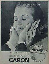 PUBLICITE CARON PARFUM FLEURS DE ROCAILLE DE 1964 FRECNH AD ADVERT PUB VINTAGE
