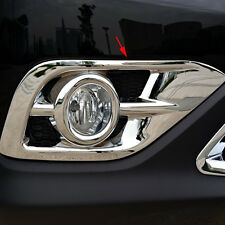 2pcs Chrome Front Fog Light Lamp Bezel Cover Trim For Honda CR-V CRV 2012 -2014
