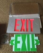 COOPER SURE-LITES UXUK EMERGENCY EXIT SILVER - UNIVERSAL 2 FACE KIT