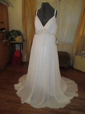 NWT chiffon Grecian Plunging Elegant Chic Wedding Prom Festival Dress Plus SZ18W
