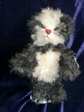 """Annette Funicello Rare Sushi Bear! NEW Mohair Jointed Panda 10"""""""
