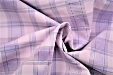 A24A LIGHT PINK ROSE CHECK HUGO BOSS SUPER FINE SHIRTING COTTON MADE IN ITALY