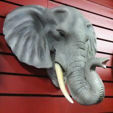 LARGE ELEPHANT HEAD MOUNT  TAXIDERMY LIKE.. HANGING DECORATION