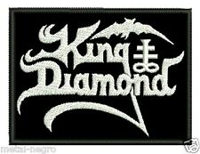 KING DIAMOND EMBROIDERED PATCH HEAVY SPEED BLACK METAL VENOM Metal Negro