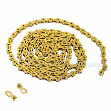 KMC X10SL Chain, Hollow Pin ,116 link with Missing Link , Gold
