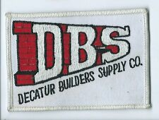 Decatur Builders Supply Co employee patch 2-7/8 X 4-1/2