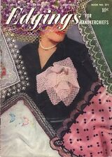 CROCHET Patterns EDGINGS Hairpin SUNFLOWER Star QUEEN ANNE Pocket LACE