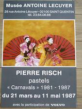 RISCH Pierre Affiche originale Vintage Poster PASTELS CARNAVALS 87 Strasbourg
