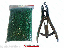 STEEL ELASTRATOR & 500 RUBBER RINGS FOR SHEEP & GOAT CASTRATION. CASTRATOR