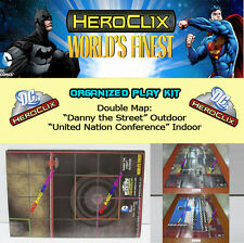 "DC HEROCLIX WORLD'S FINEST OP KIT: Mapa/Map ""Danny the Street"" ""United Nation.."""