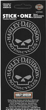 NEW Genuine Harley Davidson Willie G Skull HD logo mini decal twin sticker sheet