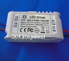 Constant Current Driver for 6-10pcs 3W High Power LED in series,6-10x3w 650mA