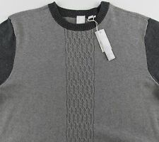 Men's RS RAFFI Gray Cotton Wool Cashmere Crewneck Crew Sweater XLarge XL NEW NWT