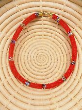 New African Maasai Beaded Choker Necklace Masai Massai ethnic tribal boho jnmr78