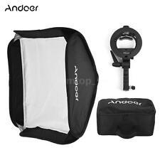 Photo Studio 80x80CM Softbox Umbrella Handheld Reflector Flash Speedlight L6O7