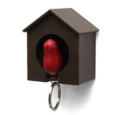 Sparrow Whistle Birdhouse Key Ring Keychain Gadget Bird Nest Wall Hook Holder