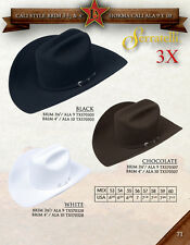 SERRATELLI 3X FELT HAT WHITE, BLACK, WHITE, CHOCOLATE