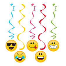 EMOJIONS Emoji DANGLERS Hanging Swirls Smiley Birthday Party Supplies Decoration
