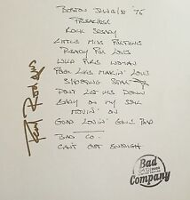 Bad Company Paul Rodgers Signed Autographed Setlist with Deluxe 2LP Album Vinyl