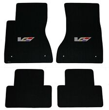NEW! BLACK FLOOR Mats 2003-2007 Cadillac CTS V Series Flag logo set of 4
