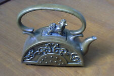 Antique Chinese Brass Kettle with Markings