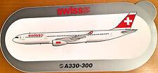 SWISS AIR, A330-300, Sticker, Aufkleber, High Quality, neu/new, TOP & SELTEN !!!