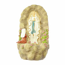 "Our Lady of Lourdes Virgin Mary small Holy water font 6"" Inspirations gift 15cm"