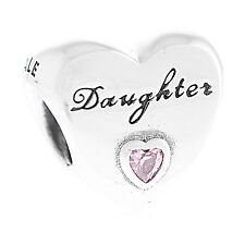 Genuine Pandora Sterling Silver Daughter's Love Charm S925 ALE 791726PCZ Auth