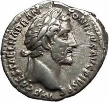 Antoninus Pius Father of Marcus Aurelius Ancient Silver Roman Coin PAX  i46430