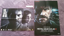 POSTERS THE LAST OF US + METAL GEAR SOLID V GROUND ZEROES