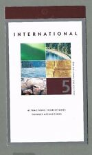 CANADA 2002 Folded Booklet  - TOURIST ATTRACTIONS (5 @ $1.25c) - Complete - MNH