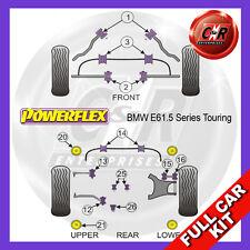 BMW E61 5 Series Touring 03-10 Rear Subframe Frt Inserts Powerflex Full Bush Kit