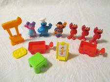2008 Sesame Street Workshop PVC Figures Abby Cookie Monster Elmo Ernie Accessori