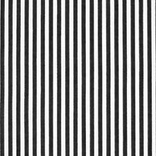 White & Black 3mm Stripe Polycotton Fabric *Per Metre