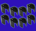 Pool Cue Clips for Cue Racks - 8 Large Black Replacement Cue Clips