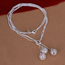 925 Sterling Silver Necklace Pendant Balls B6