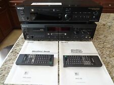 Sony MDS-JA3ES and Sony MDS-302 MiniDisc Player/Recorder (2 Decks)
