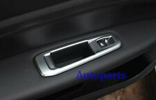Door Window Switch button Frame cover Chrome trim For peugeot 308 2014 2015 2016
