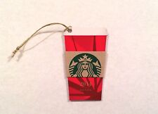 Starbucks 2014 Christmas RED CUP Die Cut MINI Gift Card Tag Ornament-Brand New