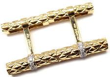 Rare! Authentic Vintage Tiffany & Co 18k Yellow Gold Diamond Cufflinks