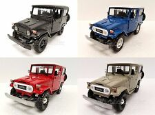 MOTOR MAX 1:24 DISPLAY TOYOTA FJ40 Diecast Car 4 Color Box Set 74323D