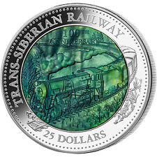 100 Anniversary of Trans Siberian Railway 5oz silver coin with MOP 2016