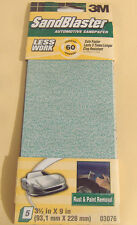 FIVE PIECE 1/3 SHEET 3M 60 GRIT SANDBLASTER SANDPAPER 3 2/3 x 9""