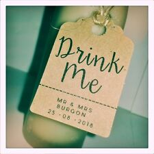 Custom Drink Me Wedding Favour Thank You Tags MINI Price Luggage Label Personal