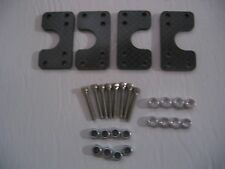 Tamiya Clodbuster/Bullhead Carbon Fiber Lower Shock/Link Mounting Plates