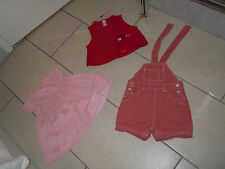 BUNDLE Baby Girl Clothes x6 Size - 9-12 Mths