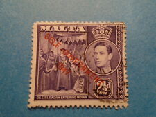 Malta: 1948 KGVI 2½d New Constitution Definitive. SG239. P12½. Used.